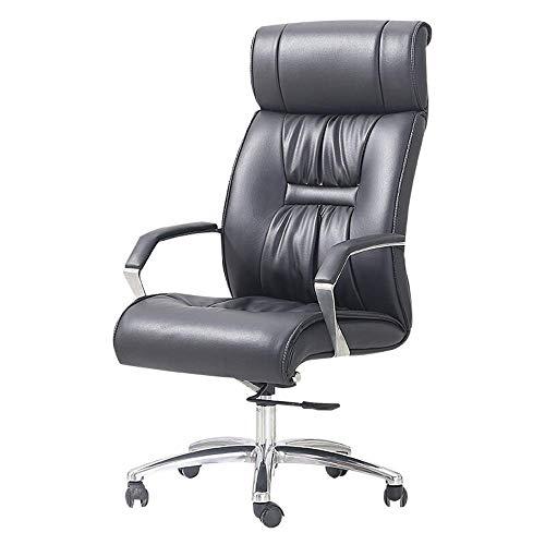 ykw Computerstuhl Bürostuhl mit hoher Rückenlehne Leder Executive Office Chair Weiche gepolsterte Schreibtischaufgabe Computerstuhl