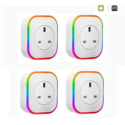 WIVION Enchufe Inteligente WiFi, Mini Enchufes Inalámbricos...