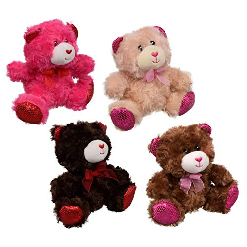 Fuzzy Friends Chocolate Scented Bears. Set of 4 - 7' Cuddly Bears Smell Great. They're a Great Addition as Easter Gifts and Basket Stuffer for Your Loved Ones, Kids and Adults