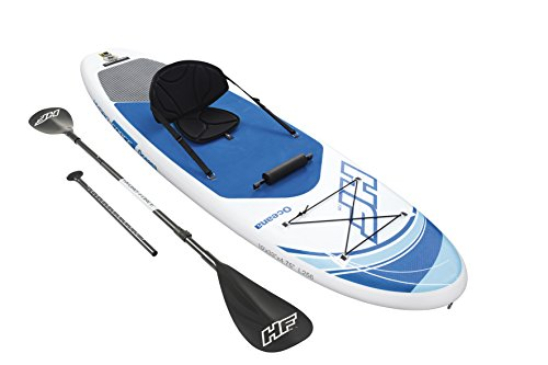 Hydro-Force Oceana Inflatable Stand Up Paddle Board, 10' x 33' x 6' | Inflatable SUP for Adults & Kids | Converts into Kayak | Complete Kit Includes Kayak Seat, Oar, Pump, Travel Bag, Ankle Leash