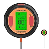 Ubephant Soil Moisture Meter, Plant Water Meter 5-in-1 Digital Soil PH Meter with PH Value, Moisture, Temperature, Sunlight Intensity, Ambient Humidity for Indoor Outdoor Lawn Care Soil Test Kit
