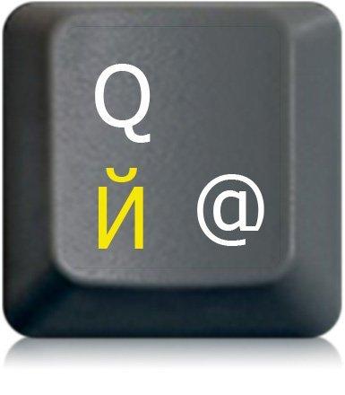 StickersLab- Adhesivos letras teclado ruso ucraniano