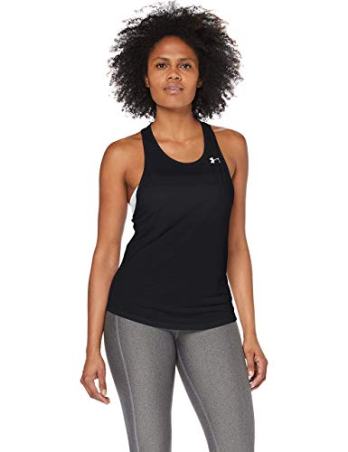 Under Armour Streaker 2.0 Racer, Tanque Mujer, Negro (Black/Black/Reflective (001)), XS