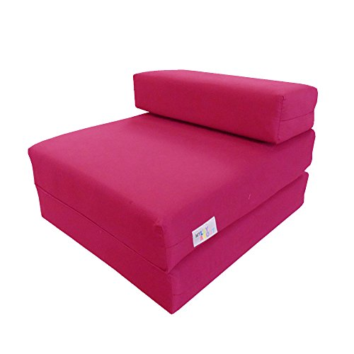 My Layabout Kids Waterproof Z Bed/Chair Sofa bed/Fold up bed Double or Single (Single | 1 Seater, Pink)