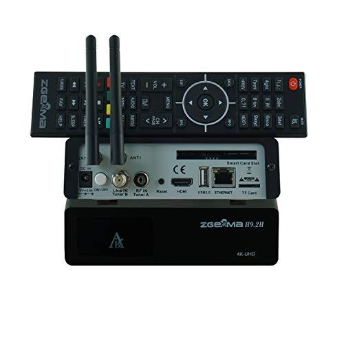 ZGEMMA H9.2H 4K UHD Combo Receptor De TV FTA Digital Linux OS DVB-S2X+DVB-T2/C+2*WiFi
