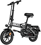 Bicicleta eléctrica de nieve, Plegable EBike, 350W aluminio bicicleta eléctrica con el pedal Para, 14' bicicleta eléctrica con 48V / 18.8AH de iones de litio Batería de litio Playa Cruiser para adulto