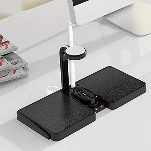 Mawwanta 5 in1 Wireless Charger Pad Dual, 10W Wireless Fast Charging, Schnellladestation/Dock,Geeignet zum Aufladen elektronischer Geräte