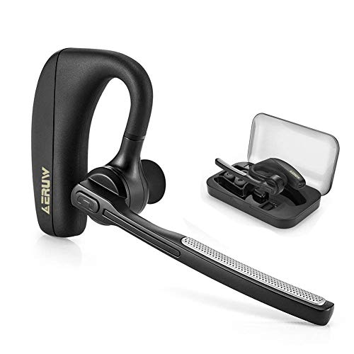 Auricular Bluetooth, Auriculares inalámbrico Manos Libres Bluetooth Headset con Micrófono, Tecnología Bluetooth Auriculares 4.1 con Cancelación de Ruido en Coche para iPhone Samsung Huawei HTC