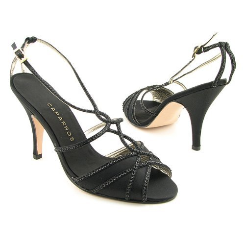 Caparros Duran Heels Slides Shoes Black Womens (10, Black)