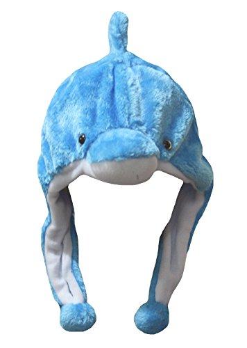 Petitebelle Mütze in Form eines Delphins, blau, für Kostümparties, unisex Gr. One size, blau