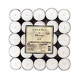 ココドール 香り ティーライト キャンドル 100個 コットンフラワー ロウソク 約3-5時間 イタリア製