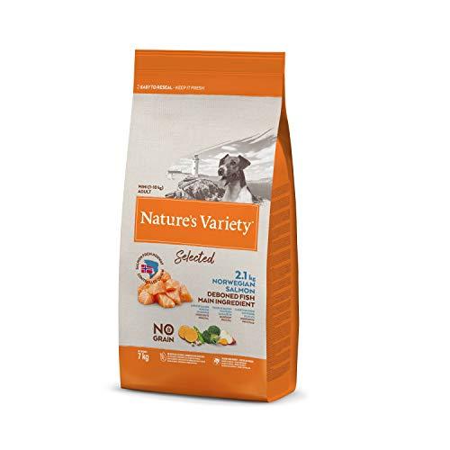Nature's Variety Selected - Pienso para perros adultos mini con salmón noruego sin espinas 7 Kg