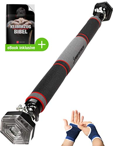 Sportstech-Pull-up-Bar-with-patented-hexagonal-system-KS200-with-3-layer-padding-safety-tension-lever-6-pressure-points-exceptional-design-incl-gloves
