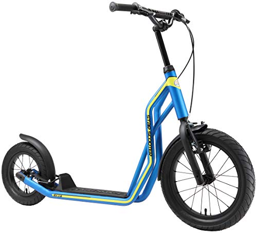 STAR SCOOTER Kinder Tret Roller ab 7-8 Jahre | 16/12 Zoll Mixed City Kick Scooter Luftreifen | Blau