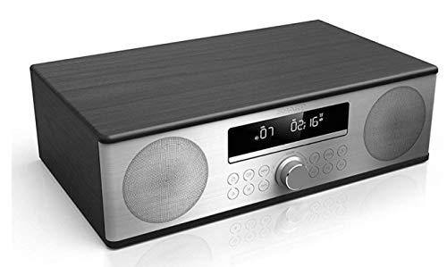 SHARP XL-B715D (BK) Zertifiziertes All In One Soundsystem mit UKW Radio und Bluetooth, USB, DAB/DAB+, CD, Kompaktanlagen, Bluetooth-Out, 90W