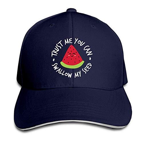 NA Vertrauen Sie Mir, Sie können Meinen Samen Schlucken Verstellbare Sandwichkappe Baseballkappe Papa Hut Casquette Hut