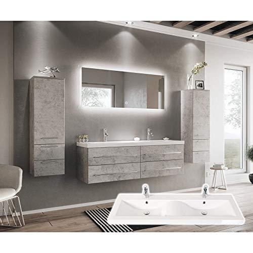 Juego de Muebles de baño Elegantes de Doble habitación, Muebles de hormigón con Lavabo, en Forma de Onda