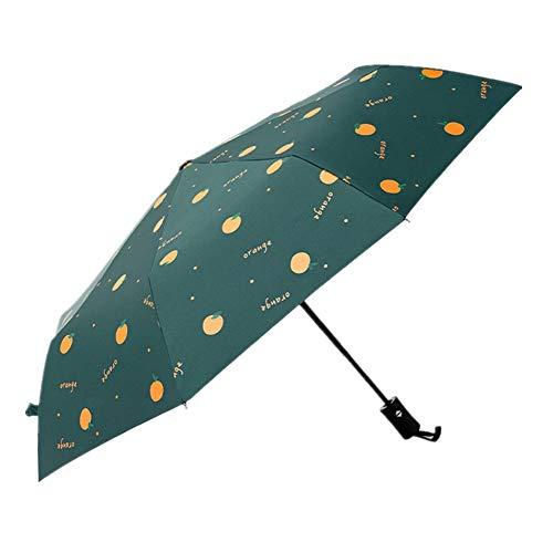 BOENTA Paraguas Plegable PequeñO Paraguas Plegable A Prueba de Viento Paraguas Compacto Niños Paraguas Los niños Paraguas Pequeño Paraguas Green,One Size