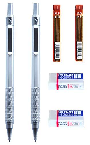 Mechanical Pencils, Aviation Aluminum Mechanical Pencil Metal Pen Body, Pencil Lead Break-Resistant