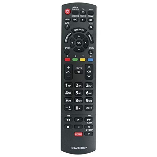 New N2QAYB000827 Remote Control fit for Panasonic Smart Viera Full HD Plasma TV TC-50PS64 TC-65PS64 TC-P42S60 TC-P50S60 TC-P55S60 TC-P60S60 TC-P65S60 TC50PS64 TC65PS64 TCP42S60 TCP50S60 TCP55S60