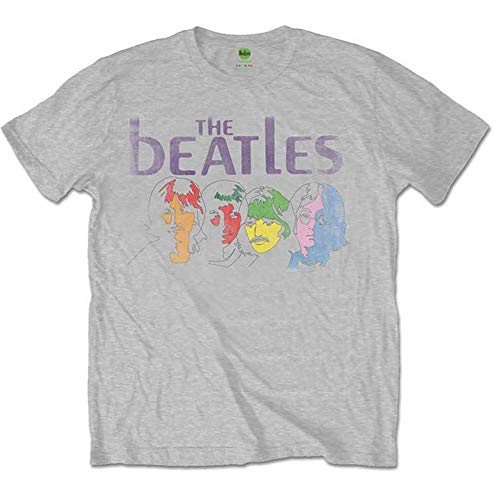 The Beatles White Album (Back Print) T-Shirt, Grigio (Grey Grey), Large Uomo