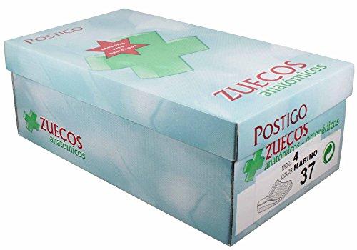 Zueco Sanitario anatómico Piel Unisex (40 EU, Azul)