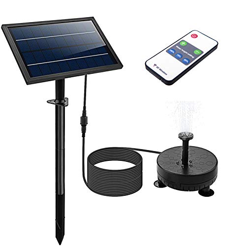 Pumps Solar Powered Garden Fountain with Battery Backup