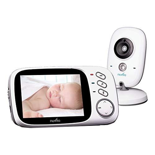 Nuvita 3032 Baby Monitor Video Wireless - Monitor per Neonati digitale a colori con Visione Notturna- Comunicazione a 2 vie PARLA&ASCOLTA - Tecnologia VOX – Ninna nanna & Termometro - Design Italiano