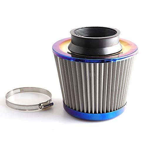QREAEDZ Burn Blue 3'76mm de admisión de Potencia de Alto Flujo de Aire frío Filtro de Filtro de la retención del Filtro de Aire del Coche (Color : Burnt Blue)