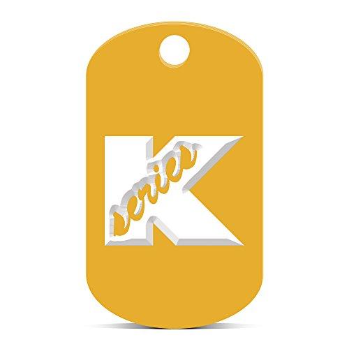 fagraphix K Series Keychain GI Dog Tag Engraved kmart JDM k20 k24 Gold Kansas