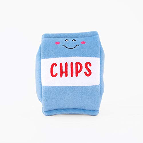 ZippyPaws - NomNomz Plush Squeaker Dog Toy for The Foodie Pup - Chips