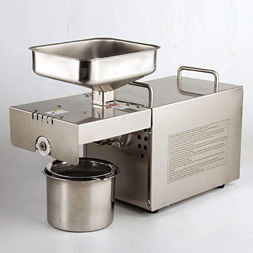 Automatische Ölpresse 304 Edelstahl Küchenmaschine, Saatölextraktor, Mini Cold Hot Ölpresse Maschine w/Brushless Motor,220V,UK