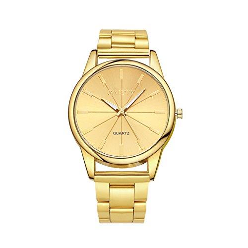 Fenical Mode Quartz Horloge Vrouwen Beroemde Polshorloge Dames Jurk Quartz Horloges (Goud)