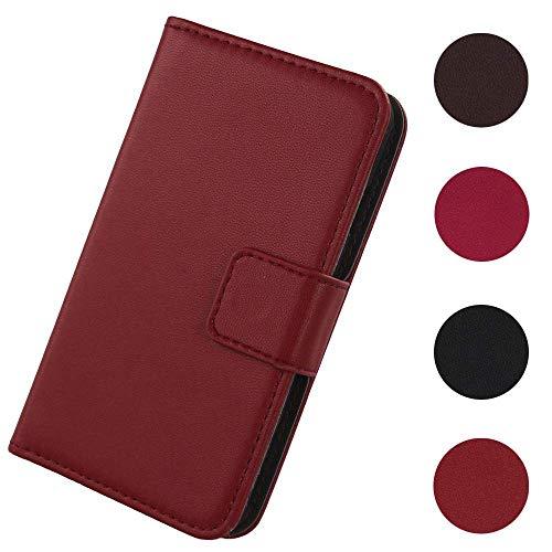 Lankashi Flip Premium Echt Leder Tasche Hülle Für MEDION Life E4504 MD 99537 4.5