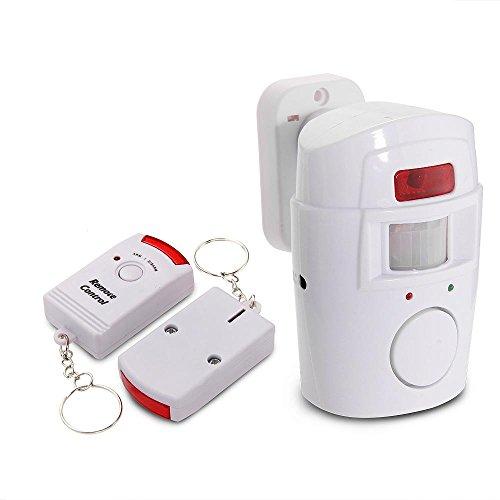 Mengshen® 2 en 1 Detector infrarrojo inalámbrico de Movimiento del IR la Seguridad del Sensor del Timbre de Alarma con Control Remoto 2 MS-H88