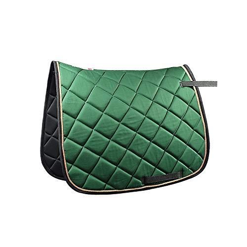 Royalian Tapis de selle antidérapant en coton pour cheval - Pour tous usages - Facile à installer - Ferme et durable - Vert