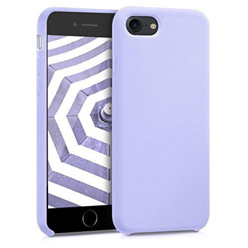 kwmobile Funda para Apple iPhone 7 8   SE (2020) - Funda Carcasa de TPU para móvil - Cover Trasero en Lila