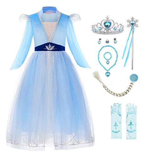 ReliBeauty Disfraz Frozen 2 Disfraz Elsa Frozen Carnaval Fiesta de Cosplay de...