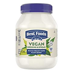 Best Foods Vegan Dressing and Sandwich Spread contains Non-GMO Sourced Ingredients Our recipe is crafted to support vegan and vegetarian lifestyles Our vegan dressing is free from eggs Best Food's Vegan Dressing is free from artificial colors and fla...