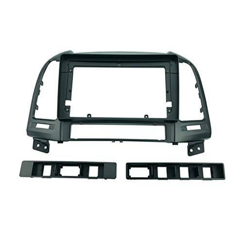 VIKEP 2din 9inch Coche Instalación De Radio DVD GPS MP5 Plastic Plastic Panel Frame Fit Para Hyundai Santa Fe / IX45 2006~2012 Dash Mount Kit