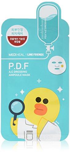 Mediheal Line Friends P.D.F A.C Dressing Ampoule Face Mask Sheet 27ml X 10pcs