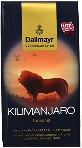 Dallmayr Kaffee Kaffeerarität Kilimanjaro Filterkaffee, gemahlen, HVP, 4er Pack (4x 250 g)