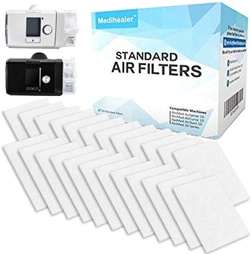 Medihealer CPAP Filters 24 Packs - Medihealer Premium Disposable Universal Filters for AirSense 10 - AirCurve 10- S9-AirStart-Series Machines - Replacement Filters Supply