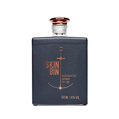 Skin Gin | Handcrafted German Gin | Anthracite Grey | Manufaktur Gin aus dem Alten Land | Koriander-Grapefruit-Limetten | 42{5abdfcff706367d1f6b5e508926e22805eacfa6d2d51c3248ff80bbd3251875c} 500ML