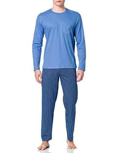 CALIDA Herren Relax Streamline Pyjamaset, Bay Blue, 56
