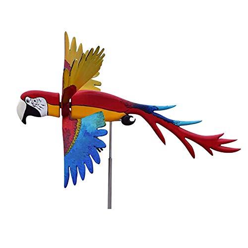 Lomelomme Papagei Windspiel Hängend Rotating Parrot Windmill Wind Windrad Garten Windräder Outdoor Spielzeug Dekoration for Garten, Hof, Rasen