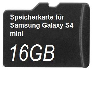16GB Speicherkarte für Samsung Galaxy S4 mini
