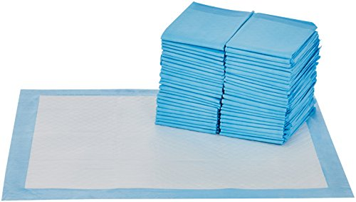 AmazonBasics Dog and Puppy Pee, Potty Training Pads, X-Large (28 x 34) - Pack of 50