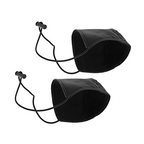 Vosarea Fersenschutz Fahren Schuh Fersenschutz Abdeckung Fersenkissen für Fahrer 1 Paar (Schwarz)