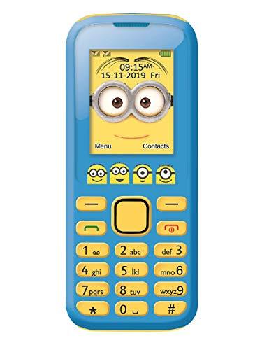 Lexibook Universal Moi, Moche et Méchant Minions Téléphone Portable 2G, double SIM, appareil photo, batterie rechargeable , jaune/bleu, GSM20DES